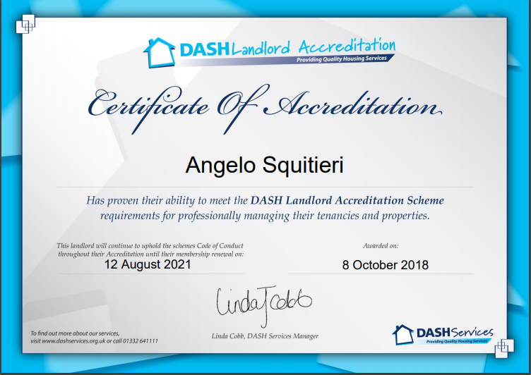 Nottingham Dash Certification